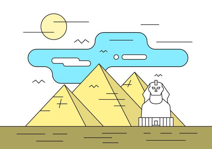 Fri illustration med pyramider vektor