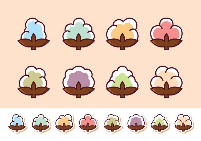 Gratis bomull Flower Vector Pack