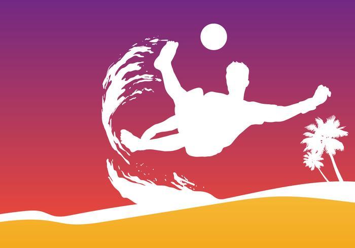 Strand Fußball Tasse vektor