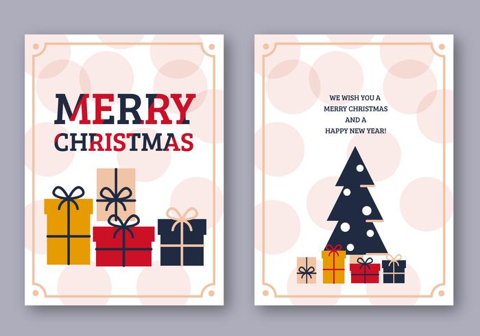 Freie frohe Weihnacht-Karte vektor