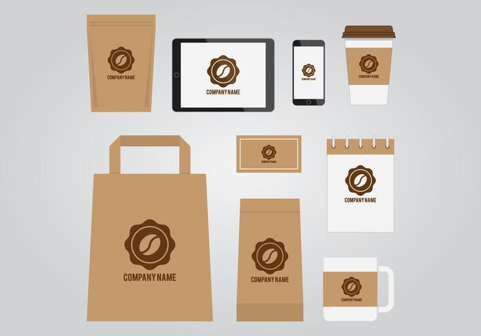 Kaffee Branding Vorlage vektor