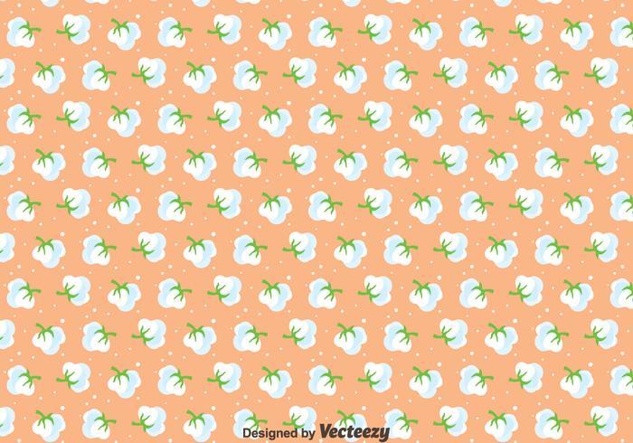 Bomull Blommor Sömlös Mönster vektor