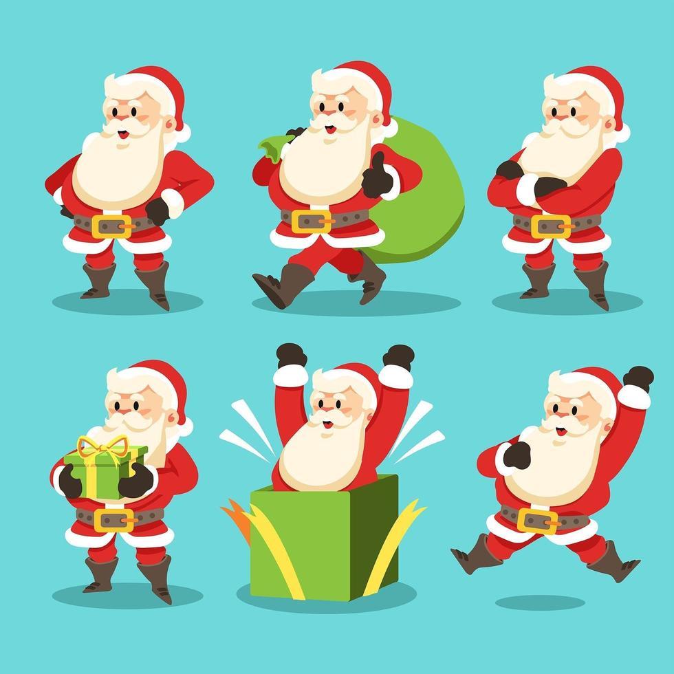 Fröhlicher Weihnachtsmann für dein wundervolles Weihnachtsfest vektor