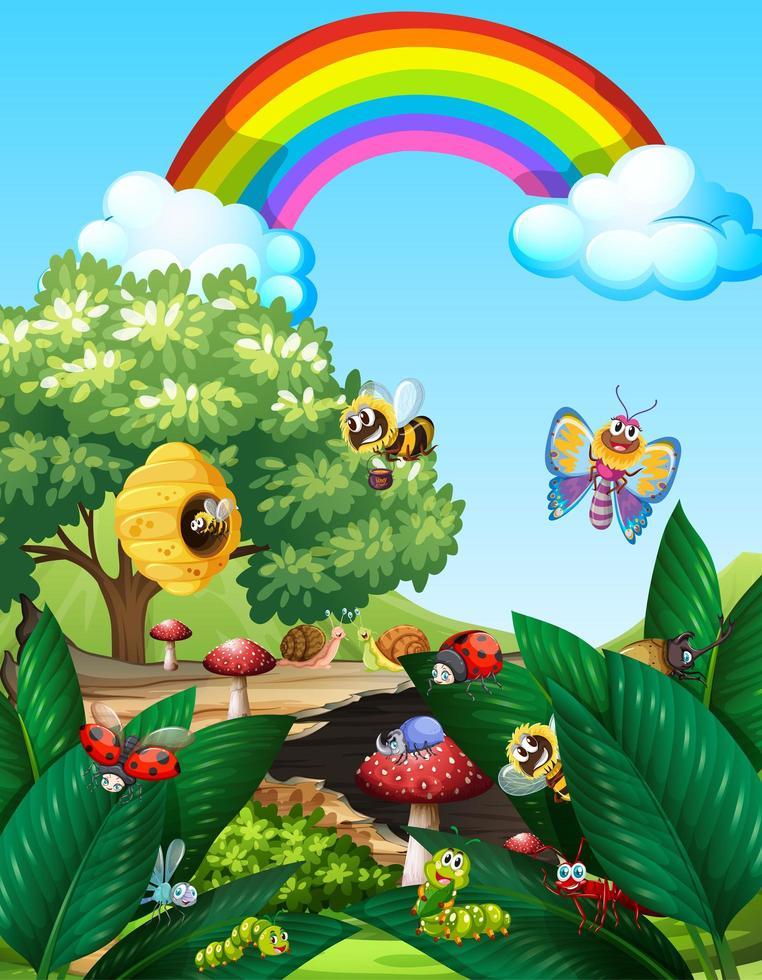 Insekten leben glücklich im Freien vektor