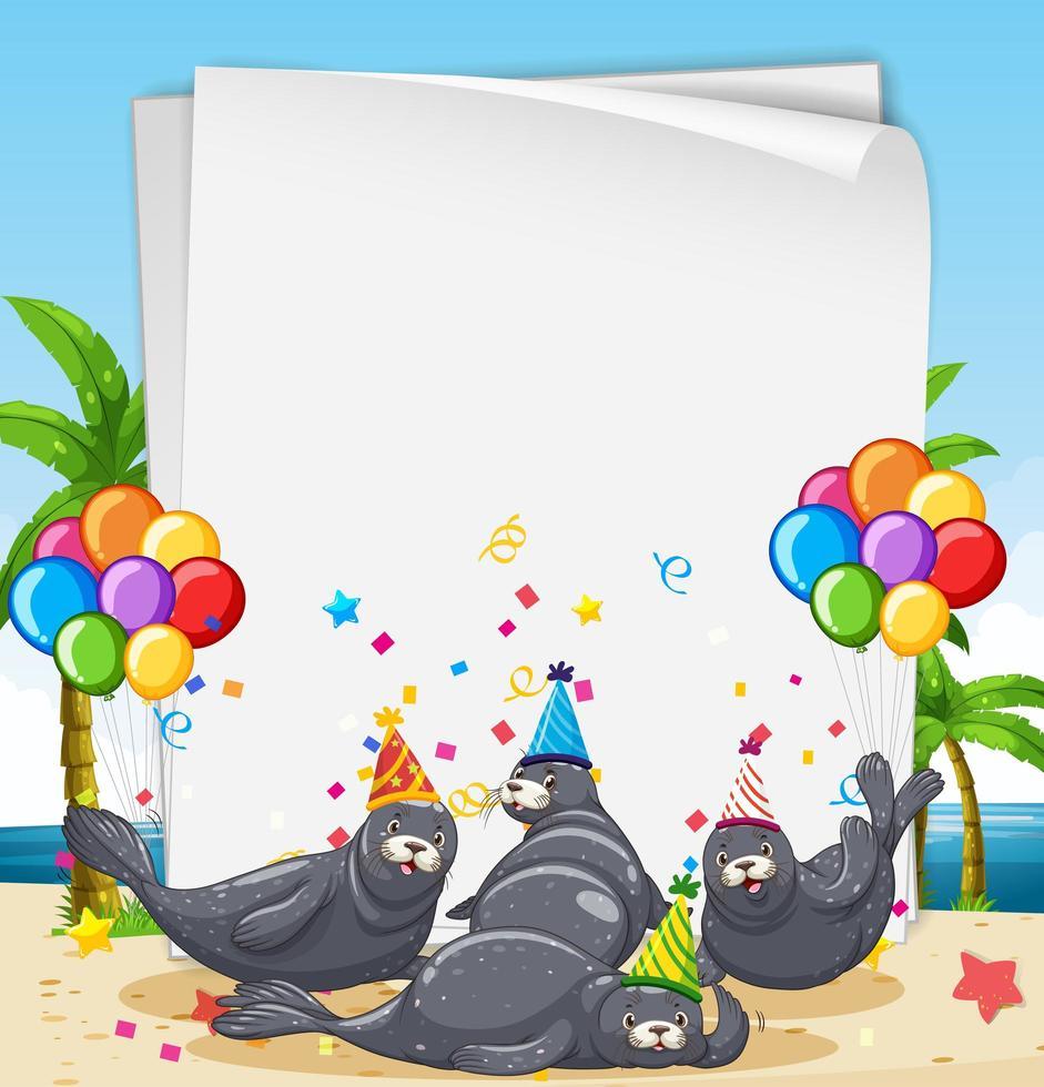 Siegel Partykarte oder Banner Vorlage vektor
