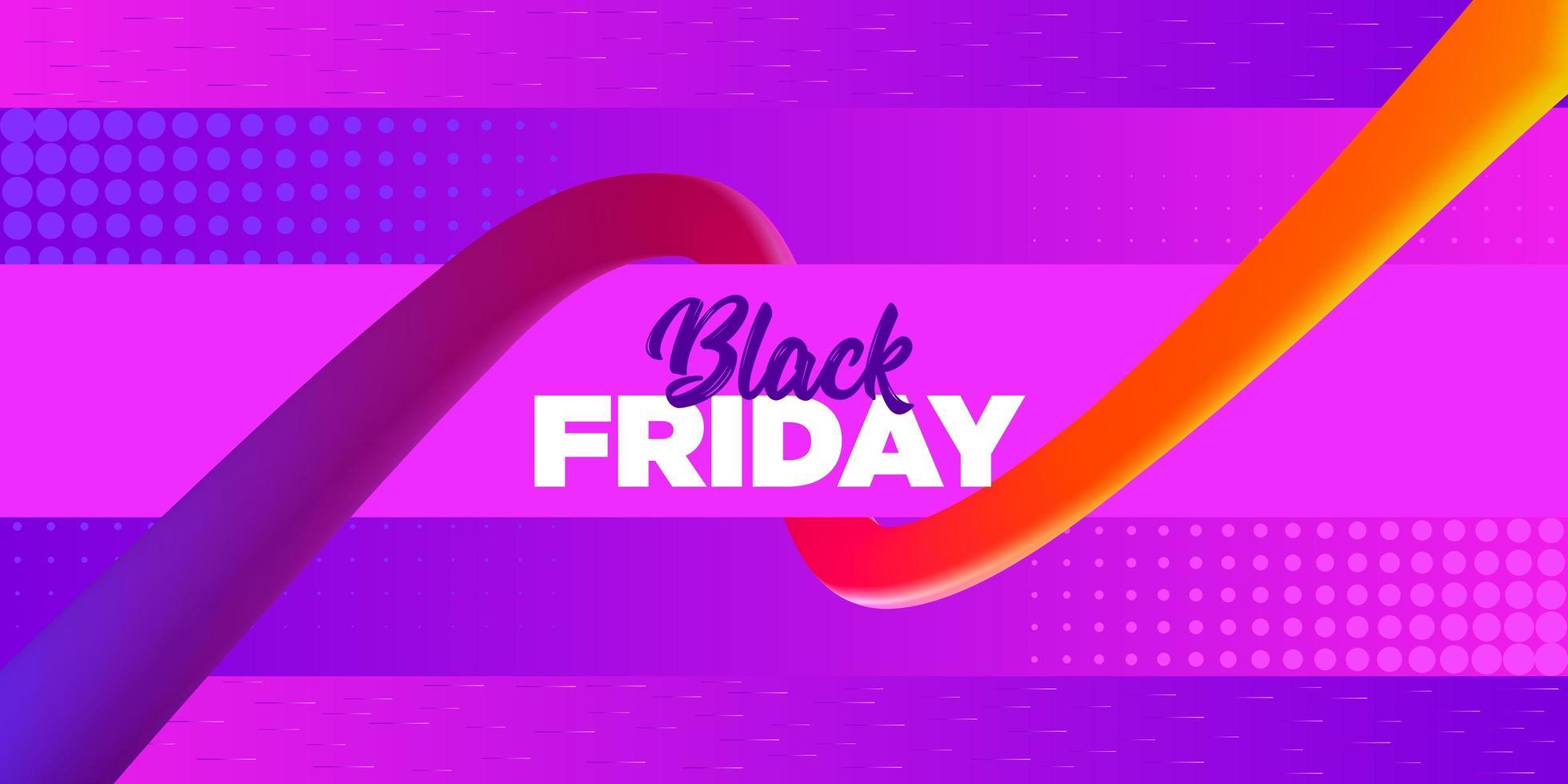 schwarzer Freitag hellrosa lila Verkauf Banner Design vektor