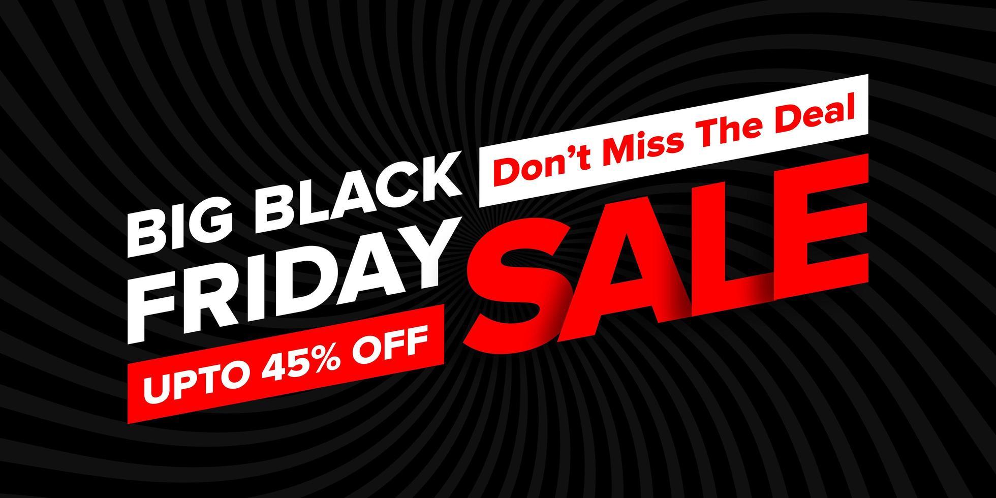 svart fredag försäljning banner vektor