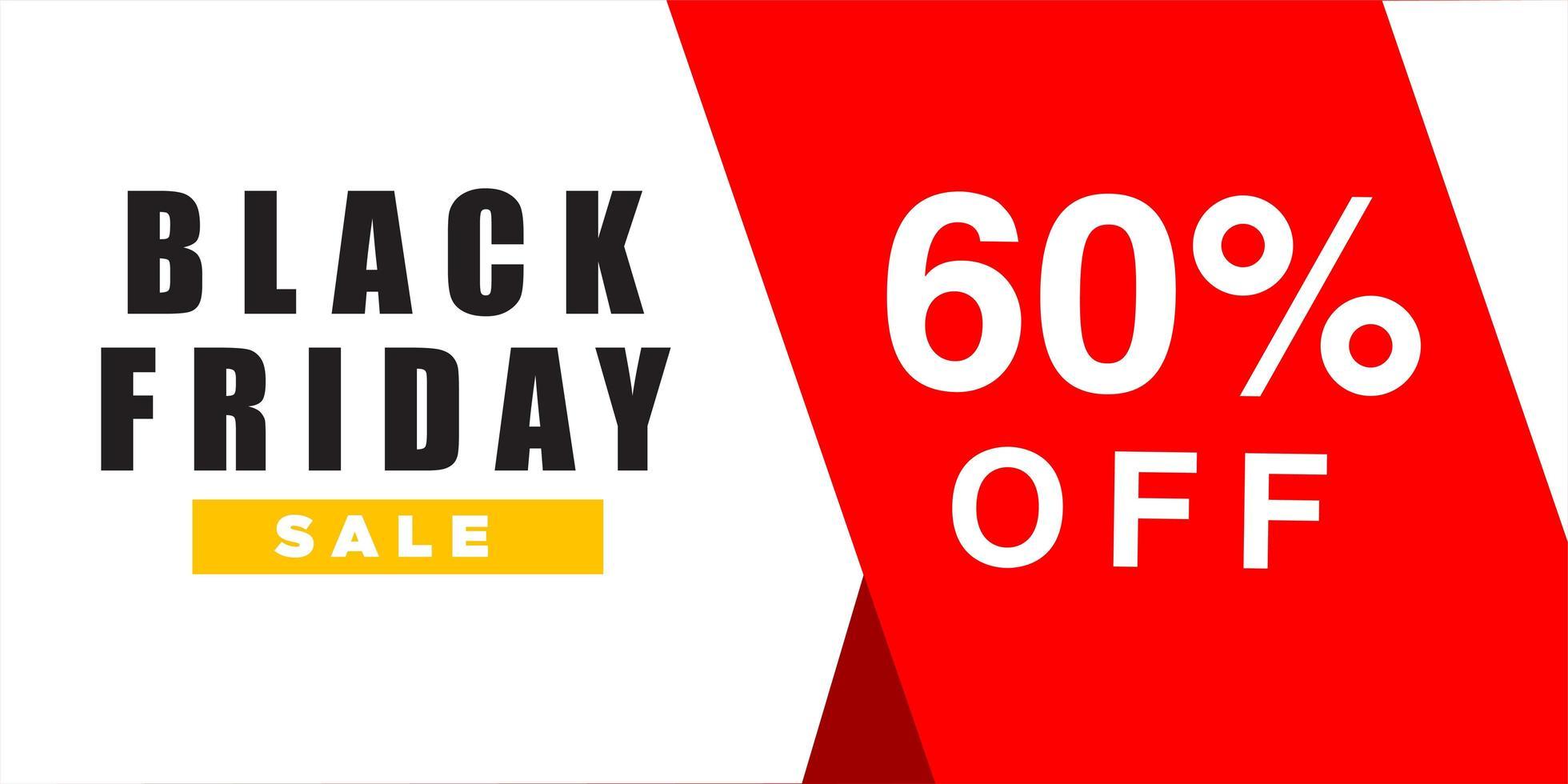 schwarze Freitag Verkauf Banner Design-Vorlage vektor