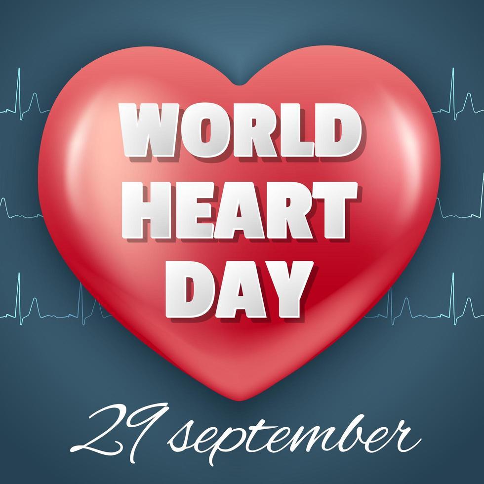 värld hjärta dag design vektor