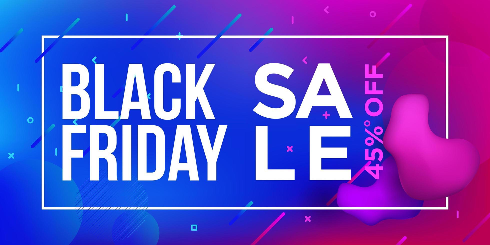 svart fredag försäljning gradient banner design vektor
