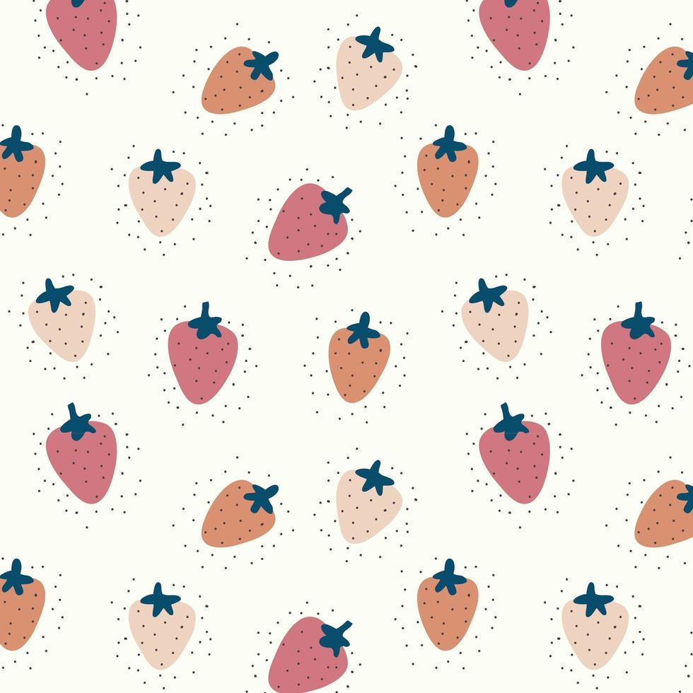Erdbeer nahtloser Musterhintergrund vektor