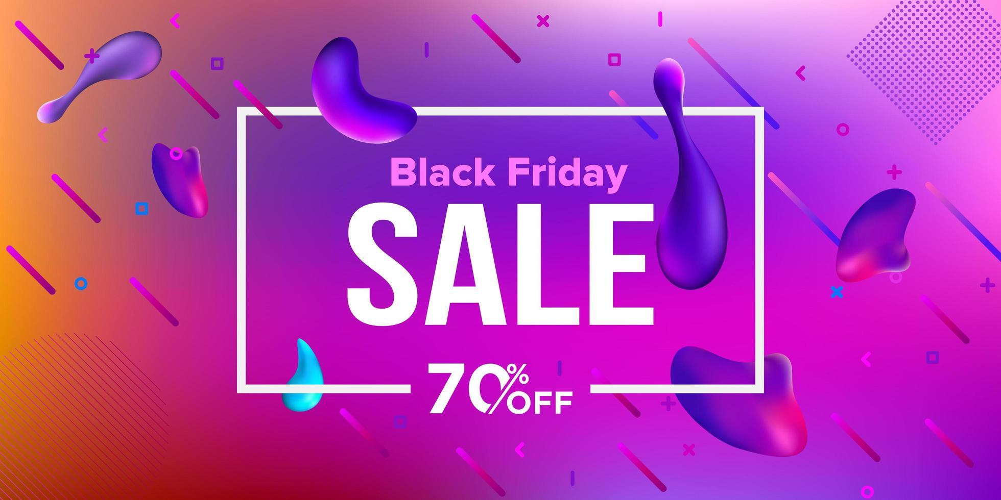 schwarzer Freitag Verkauf Banner Design flüssige Banner vektor