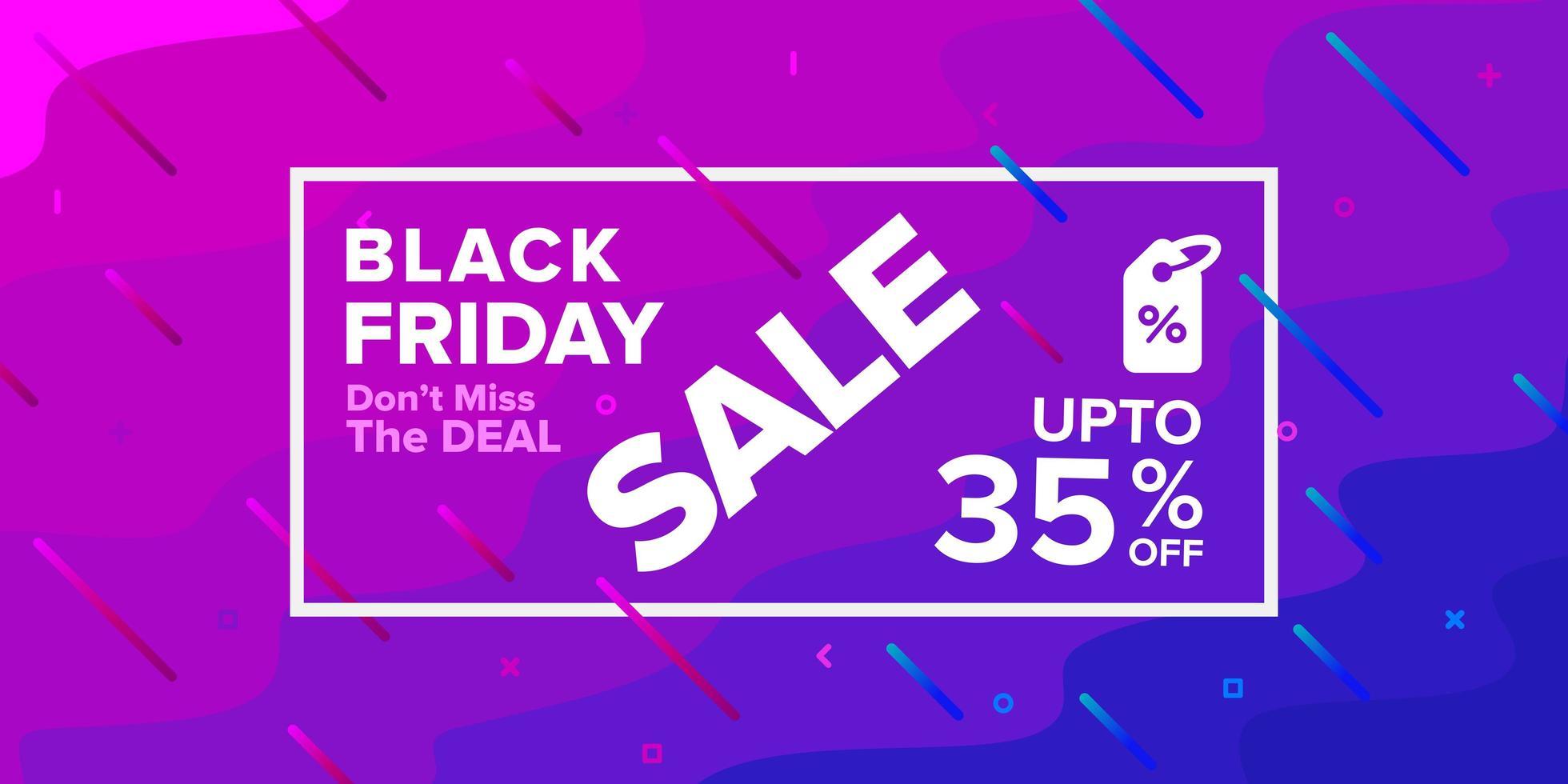 schwarzer Freitag lila Verkauf Banner Design vektor