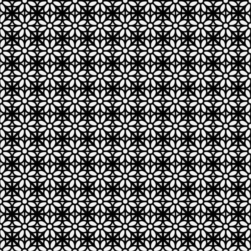 blommig geometrisk sömlös mönster design bakgrund vektor