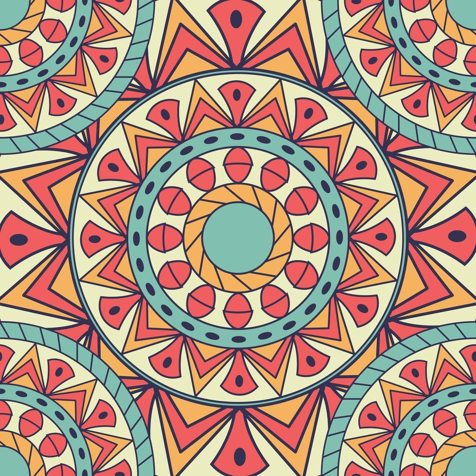 farbiges nahtloses Blumenmuster vektor
