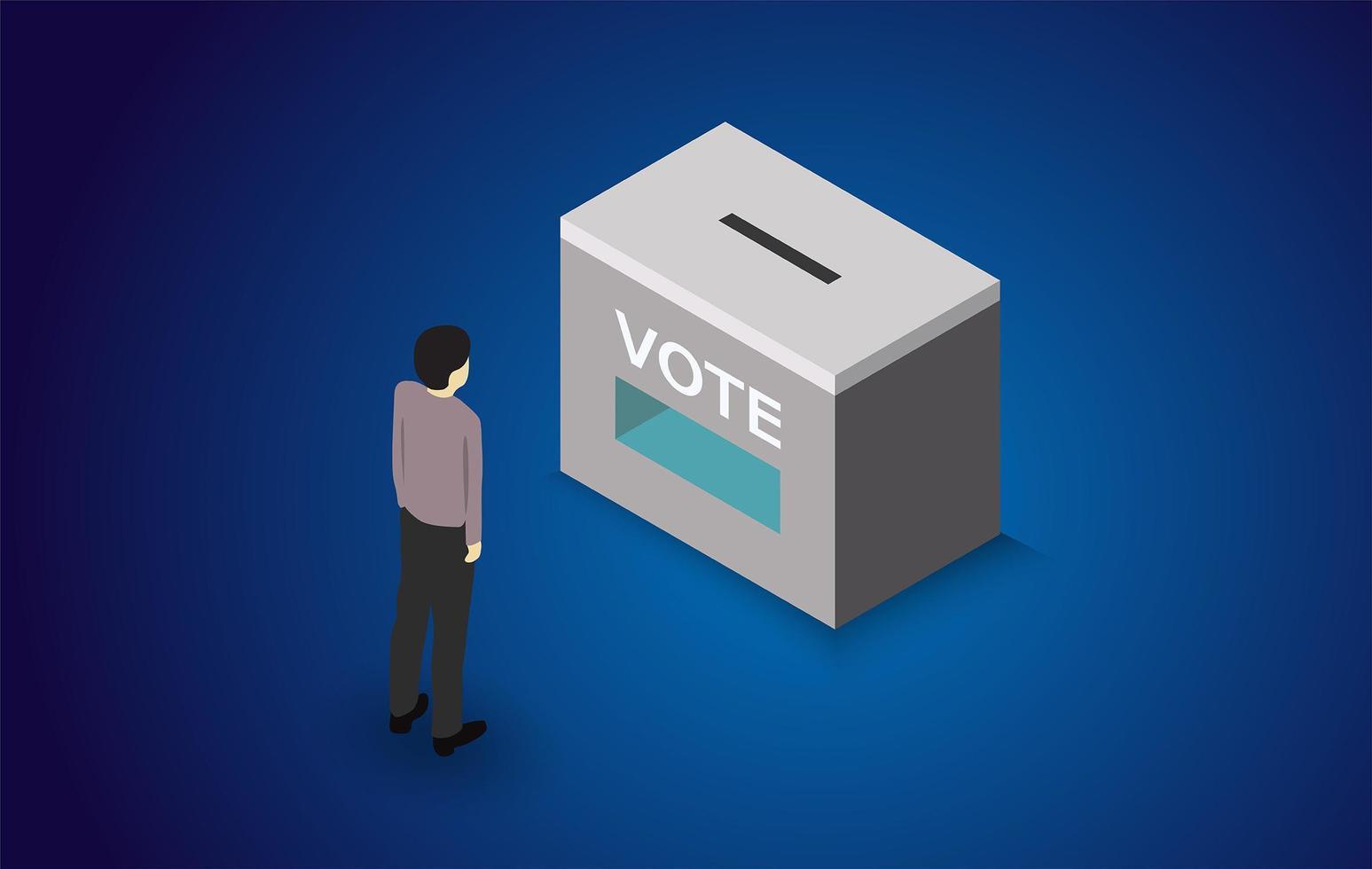 valröstningskoncept vektor