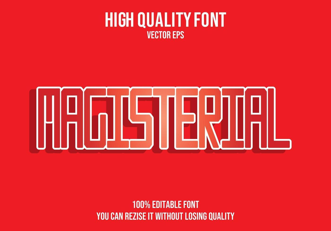 magisterial röd texteffekt vektor