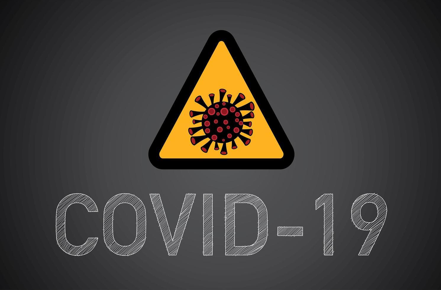covid-19, Coronavirus-Zeichen. vektor