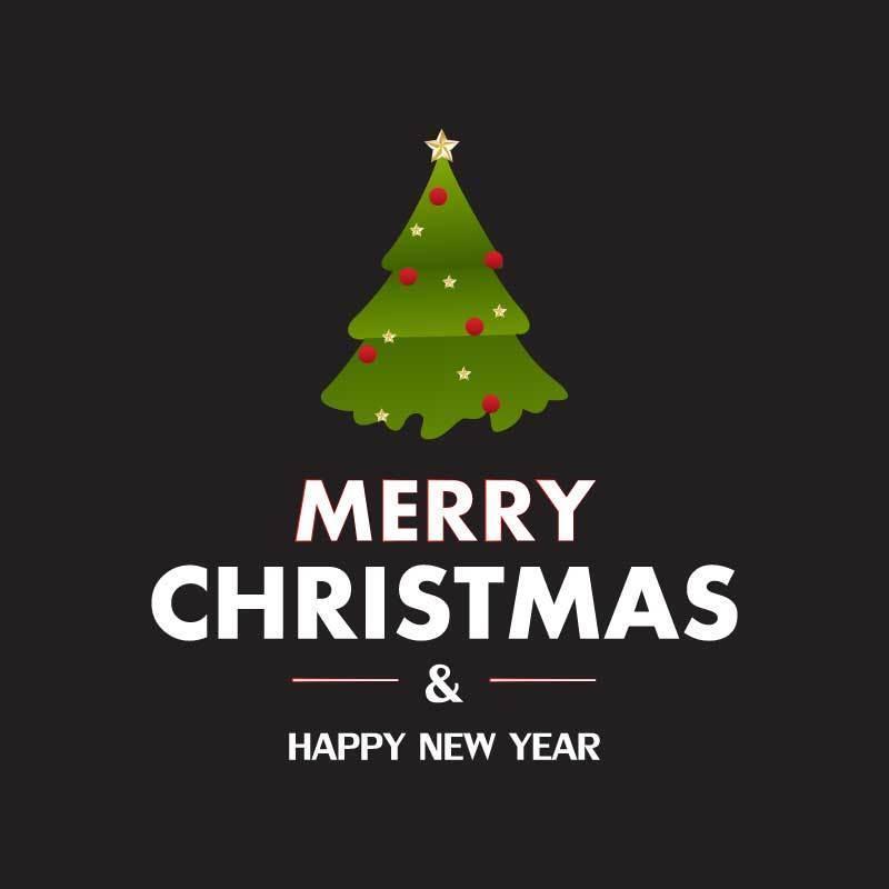 Frohe Weihnachten und ein glückliches Neues Jahr vektor