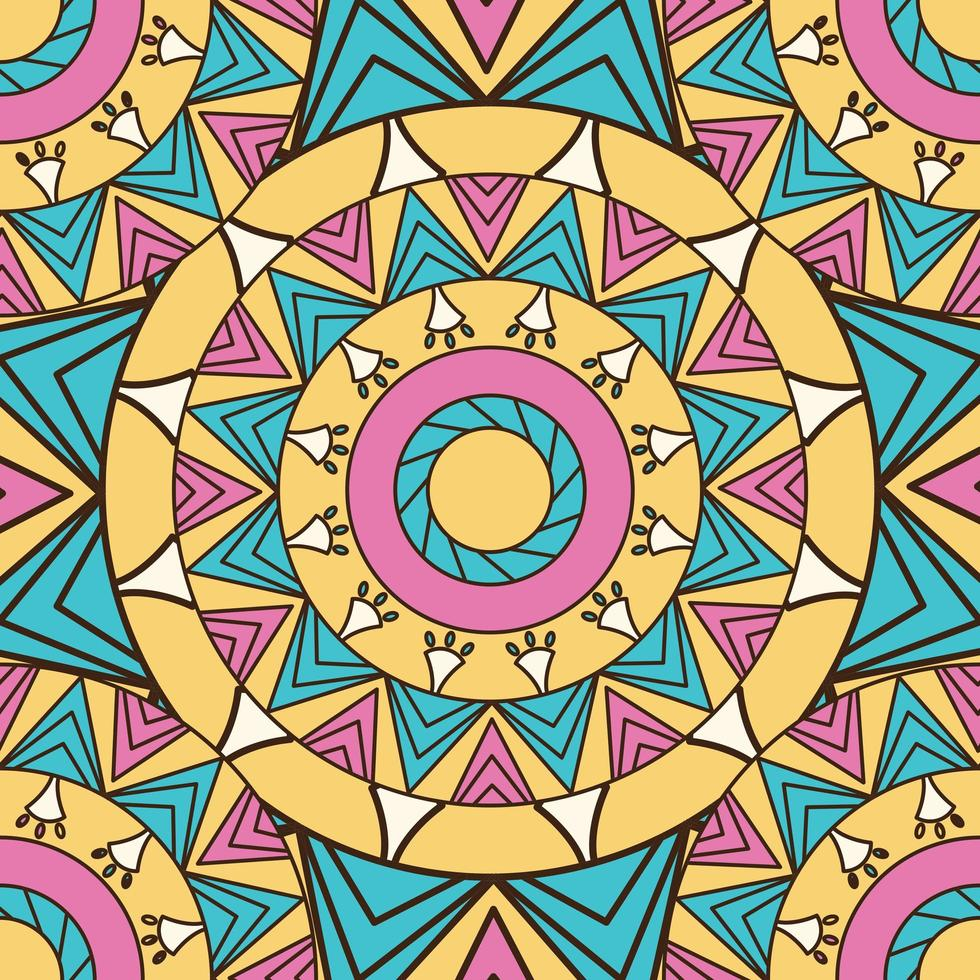 farbiger Mandalamusterhintergrund vektor