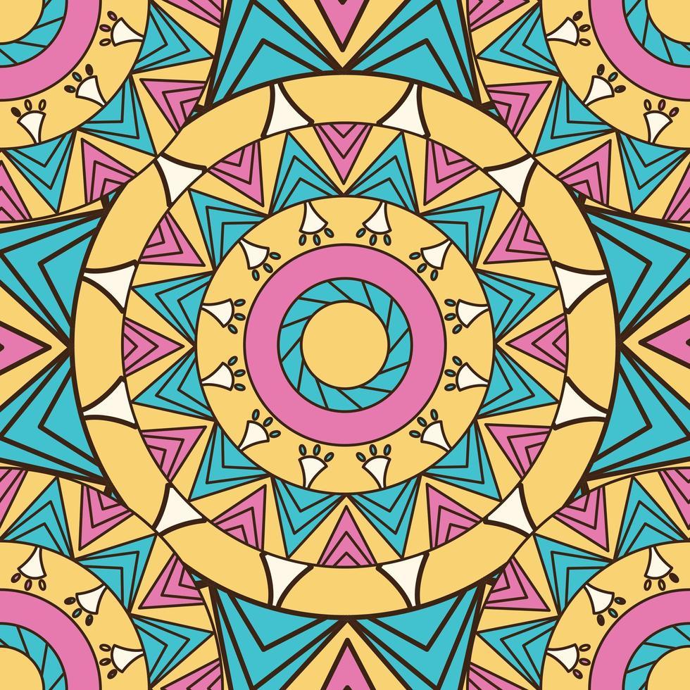 färgad mandala mönster bakgrund vektor