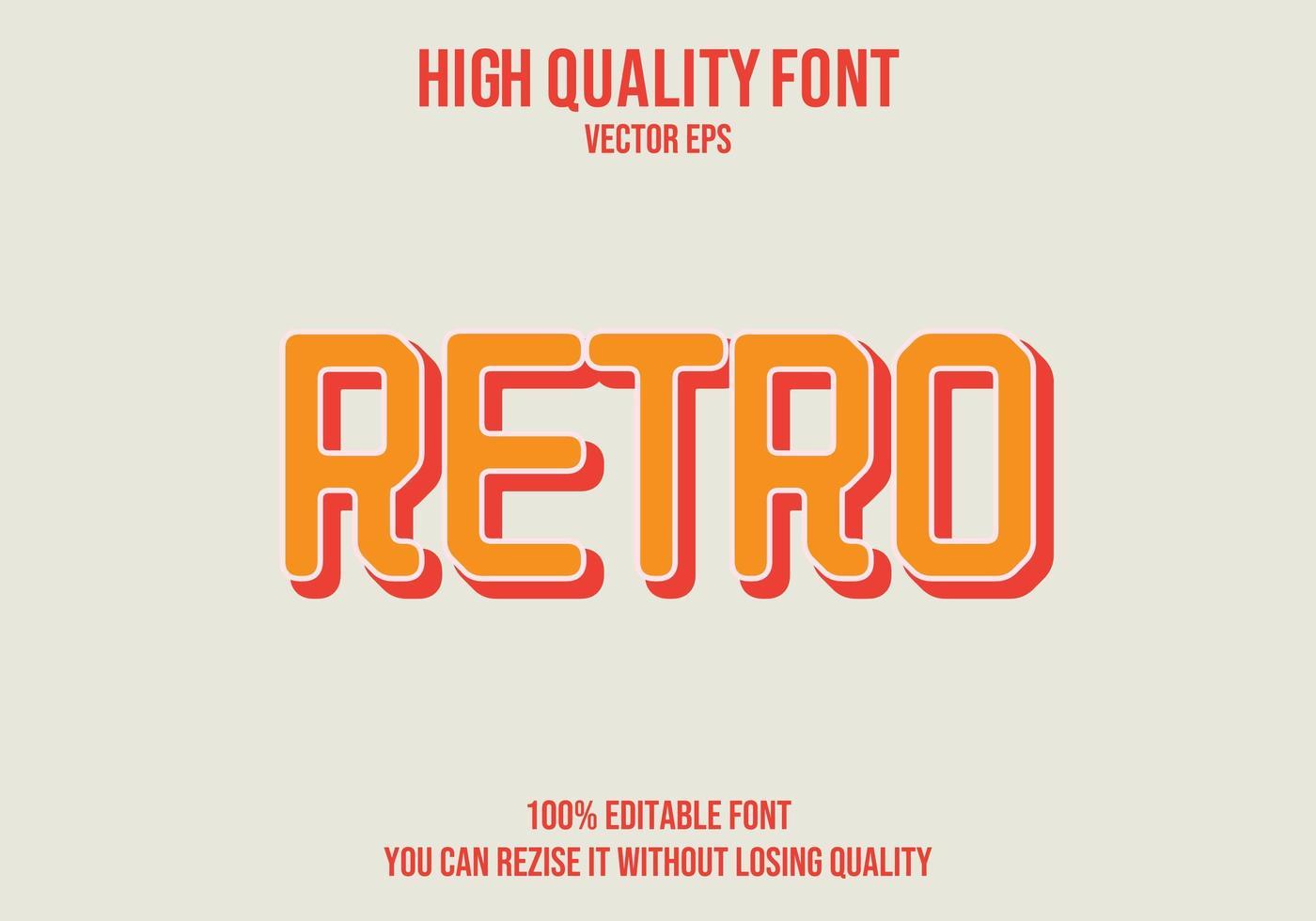retro redigerbar texteffekt vektor