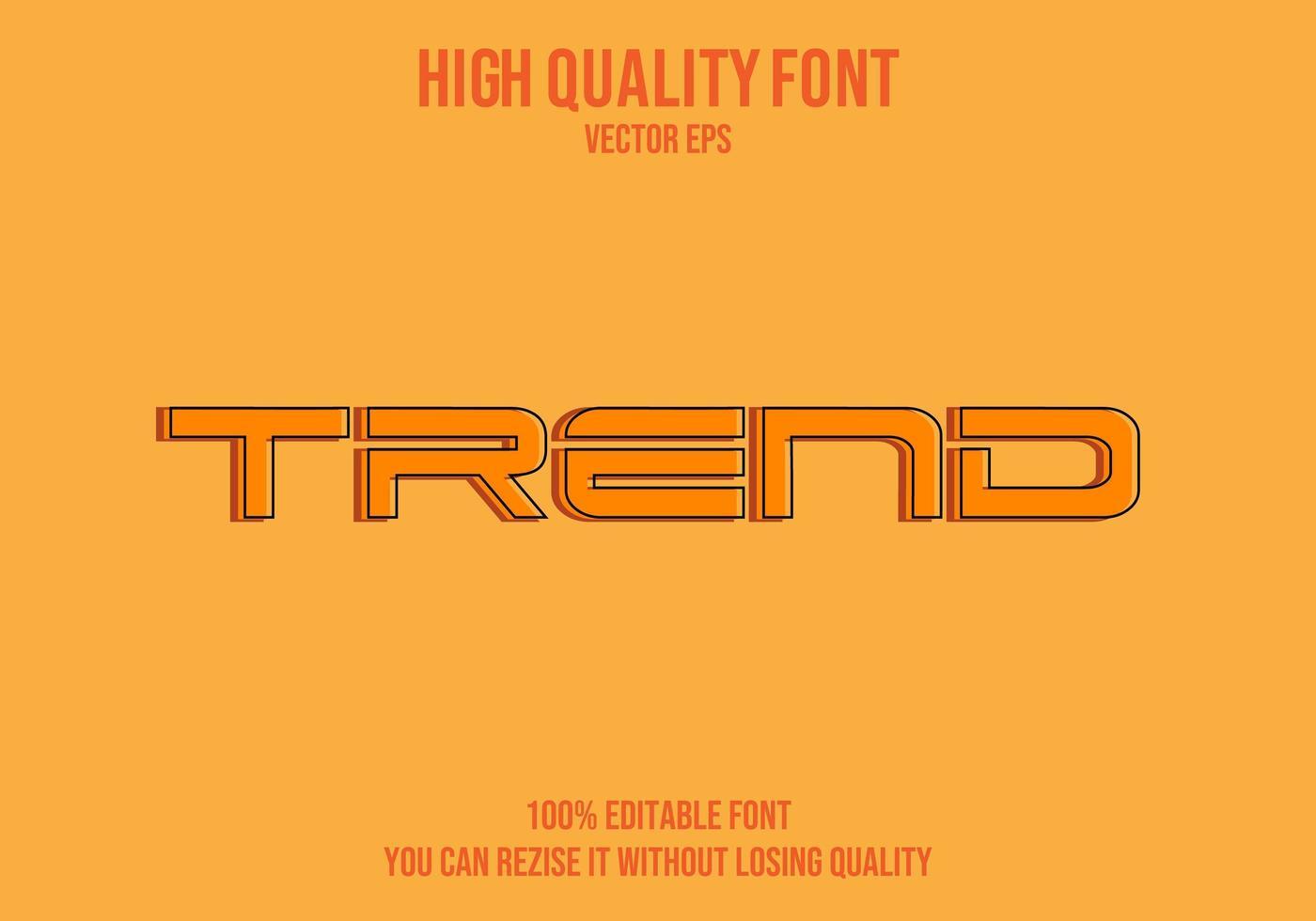 Trend bearbeitbarer Texteffekt vektor