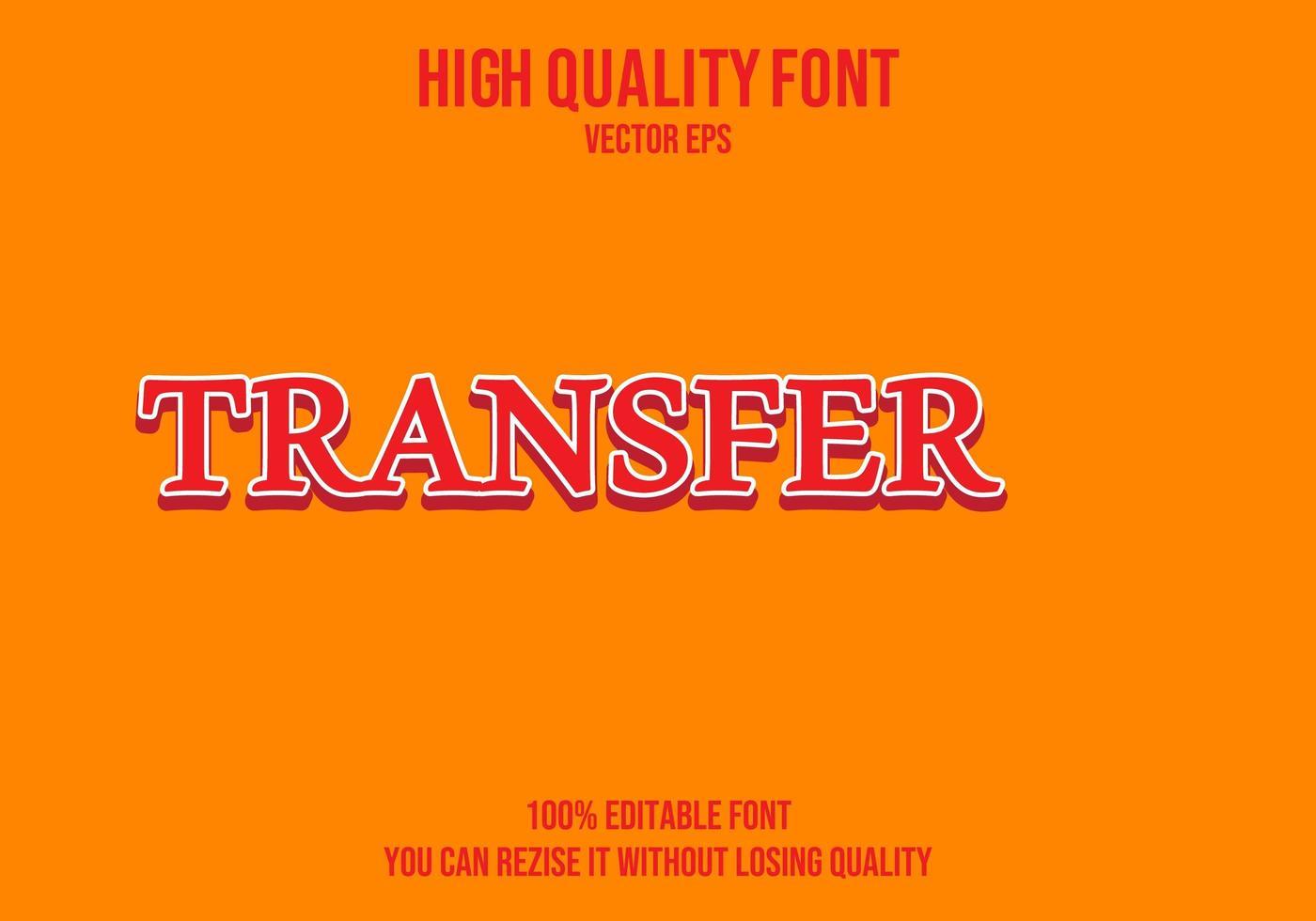 överföra redigerbar texteffekt vektor