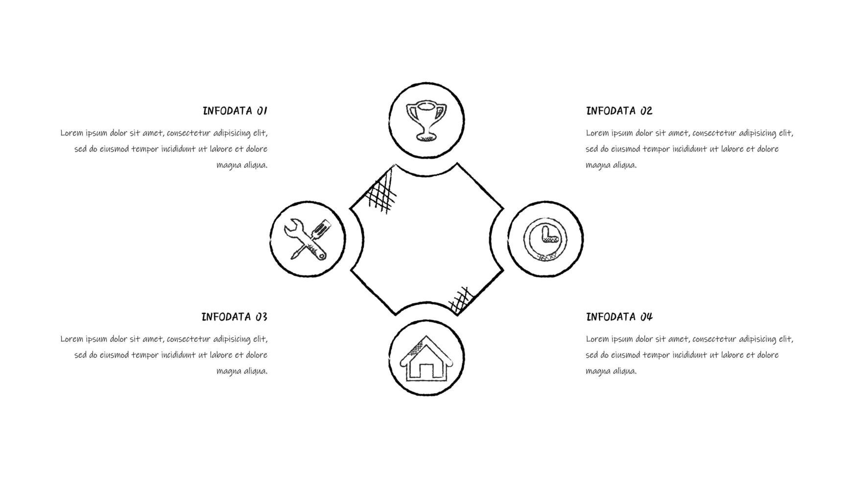 Infografik im Skizzenstil des Geschäftszyklus vektor