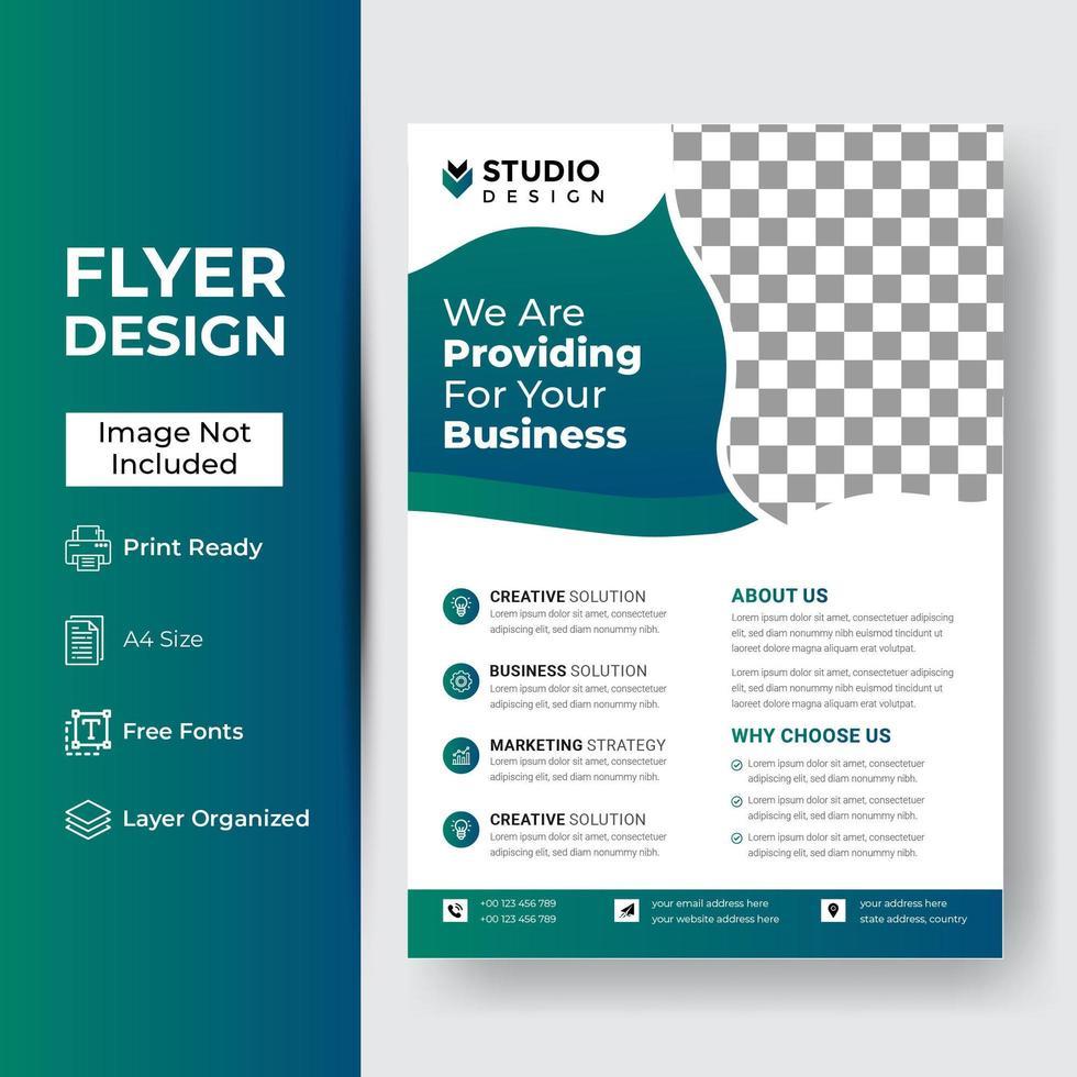 Corporate Business Flyer Poster Broschüre Broschüre vektor