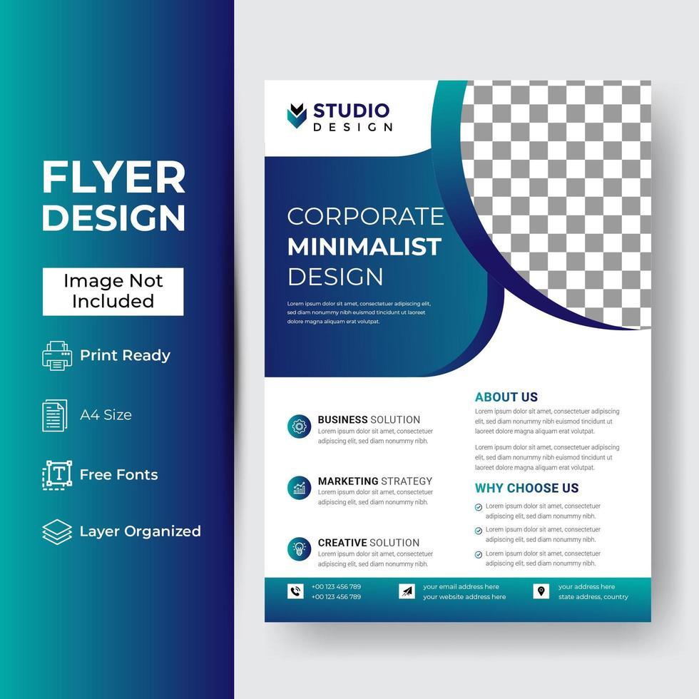 Corporate Business Flyer Vorlage vektor