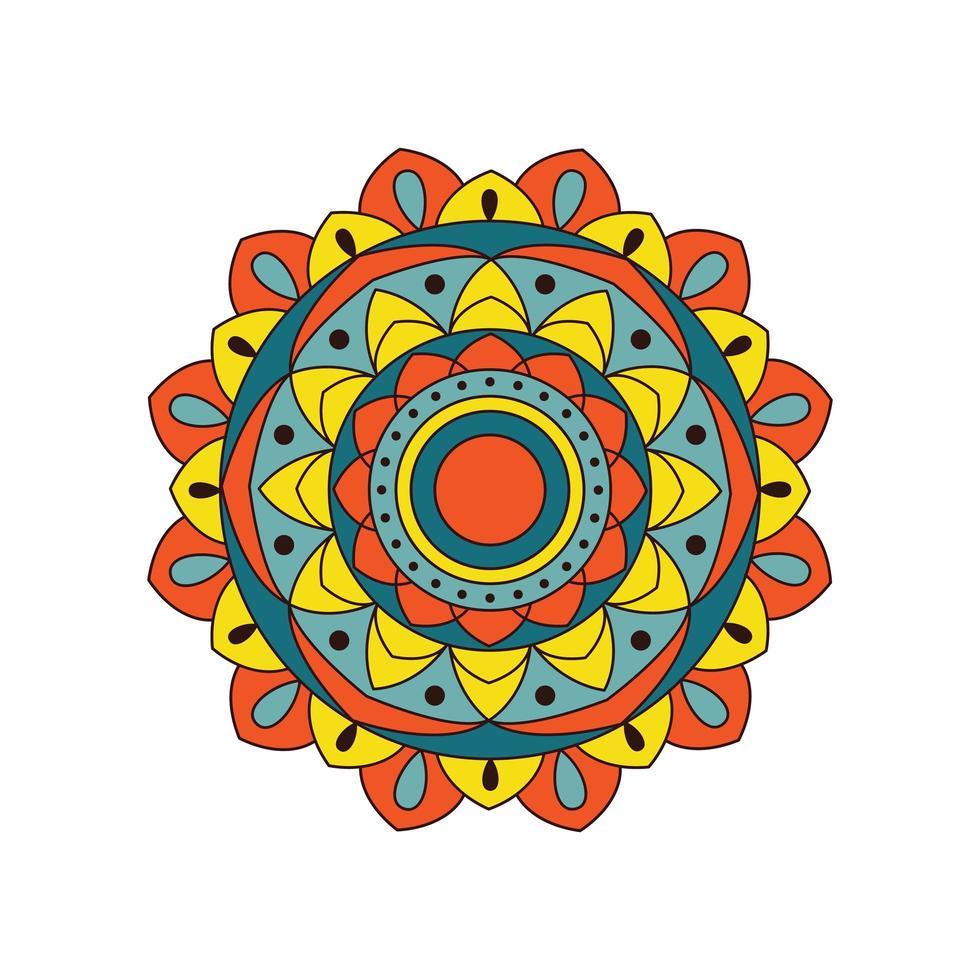 buntes helles mutiges Mandala-Design vektor
