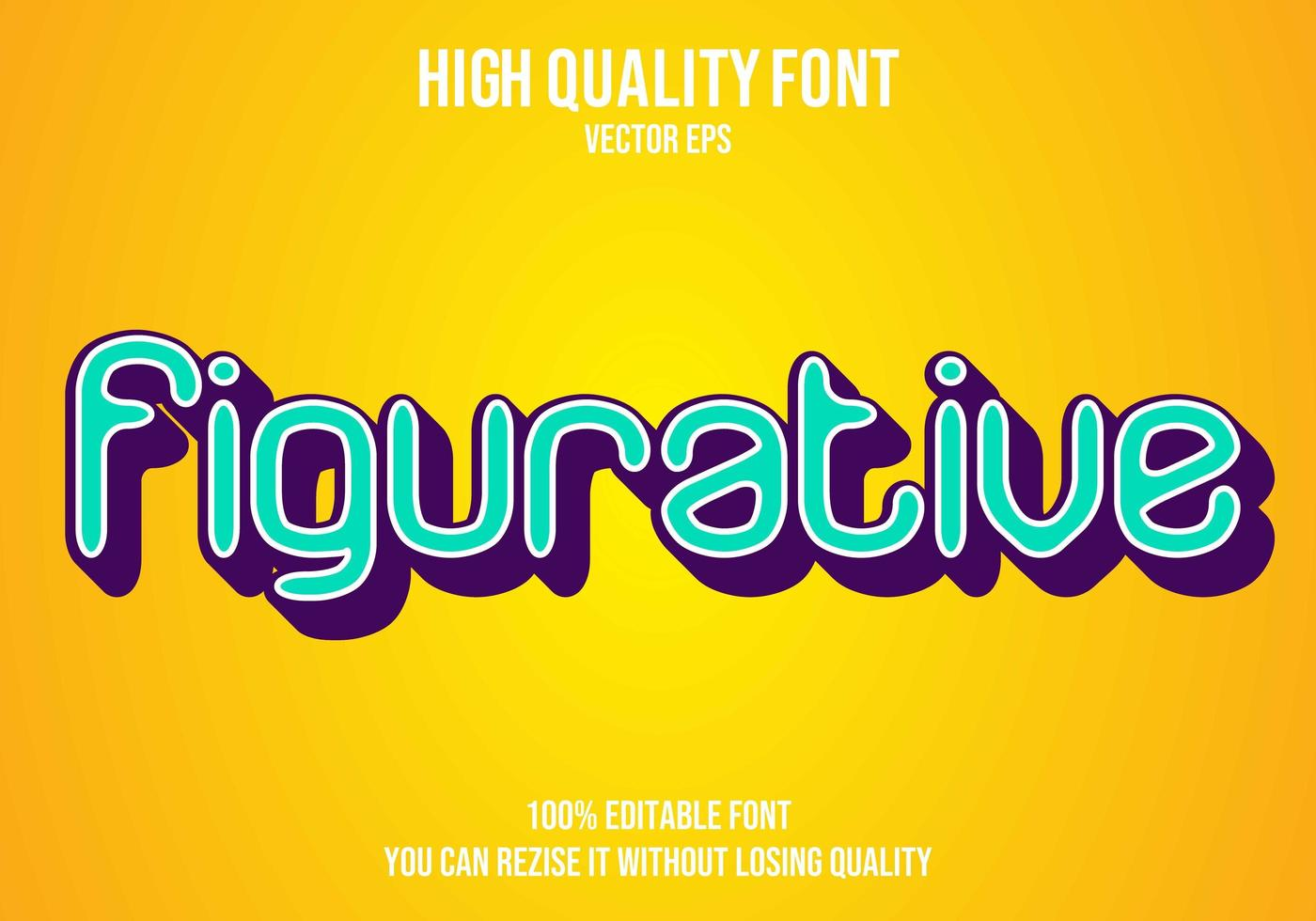 figurativ retro redigerbar texteffekt vektor