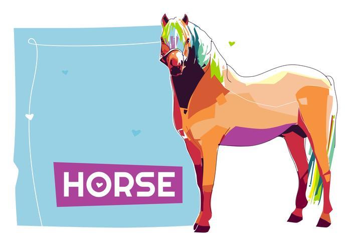 Pferd - Popart Porträt vektor