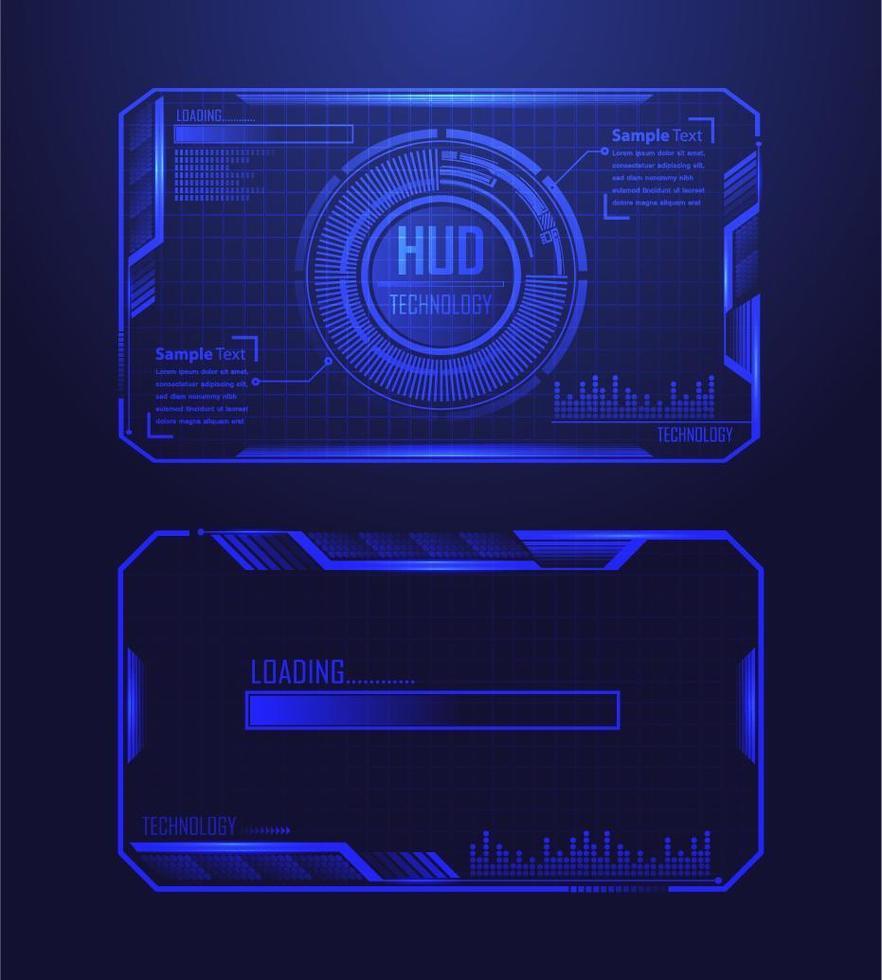 binär kretskort framtida teknikbakgrund vektor