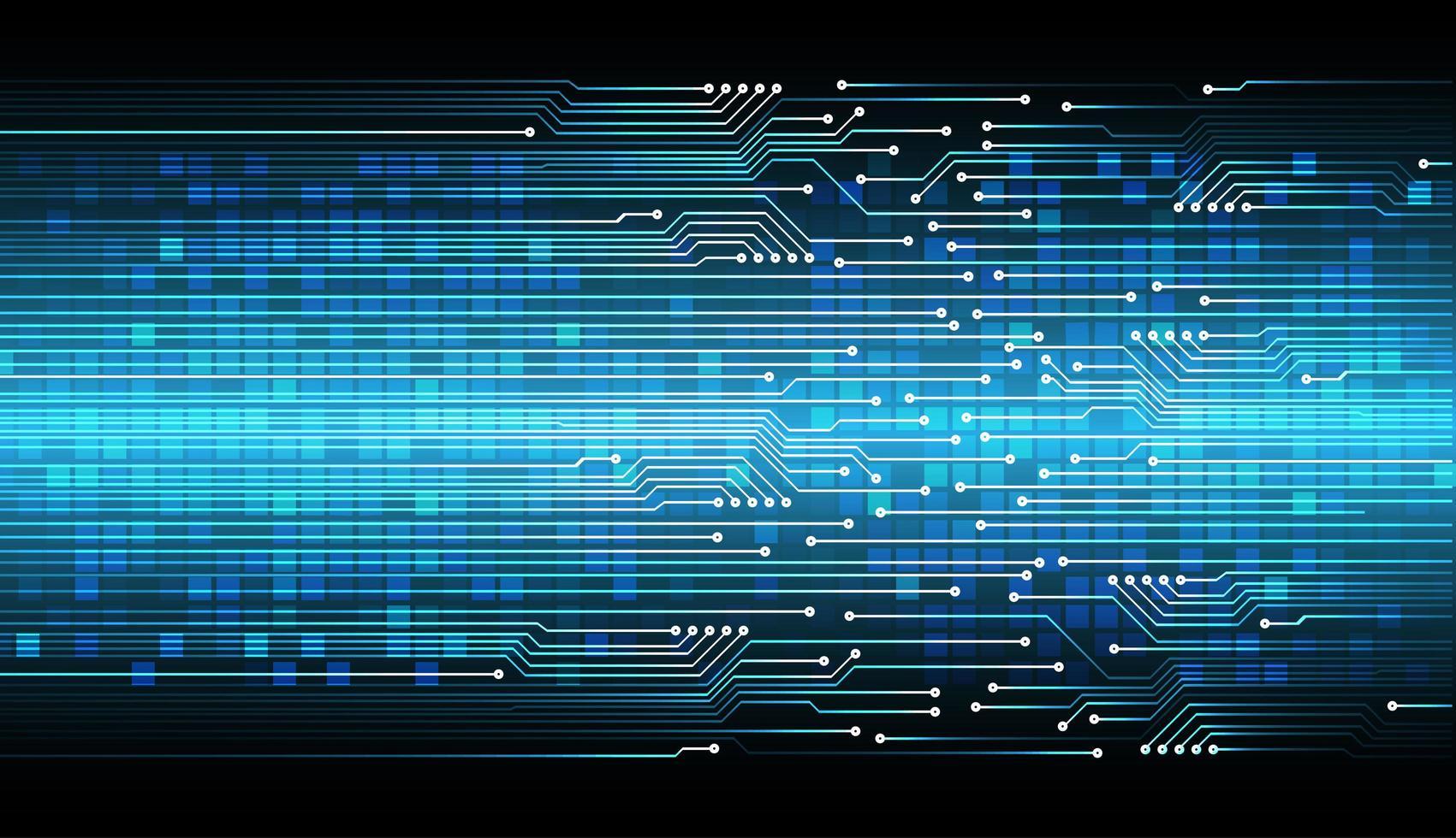blå cyberkrets framtida teknikbakgrund vektor