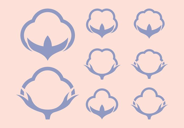 Bomullsymboler Logo vektor