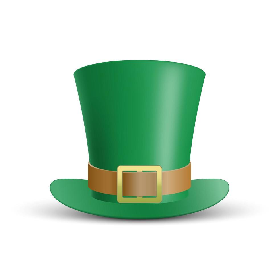 grüne st. Patrick's Day Hut isoliert vektor