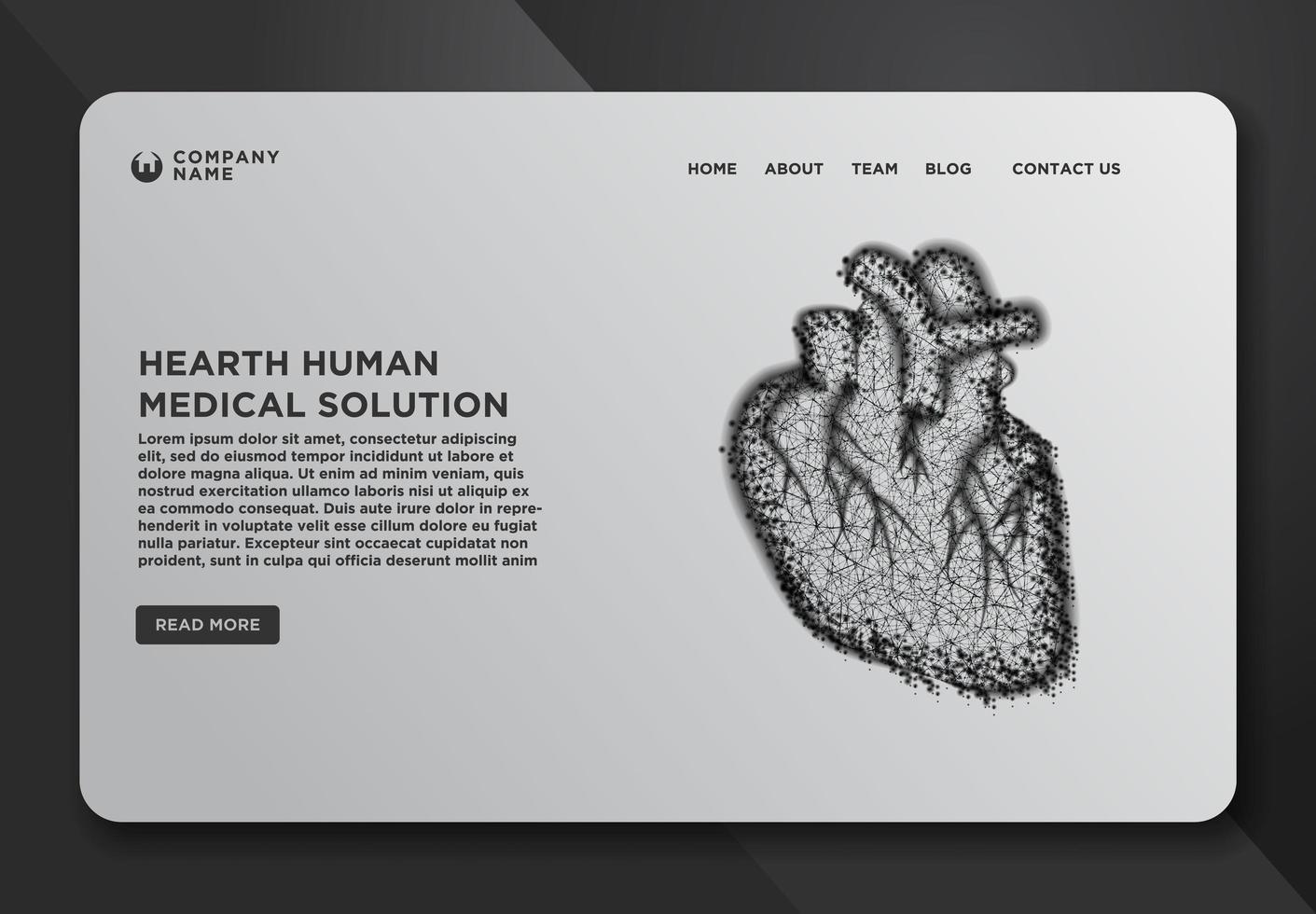 Webseiten-Design-Vorlage mit Herz vektor