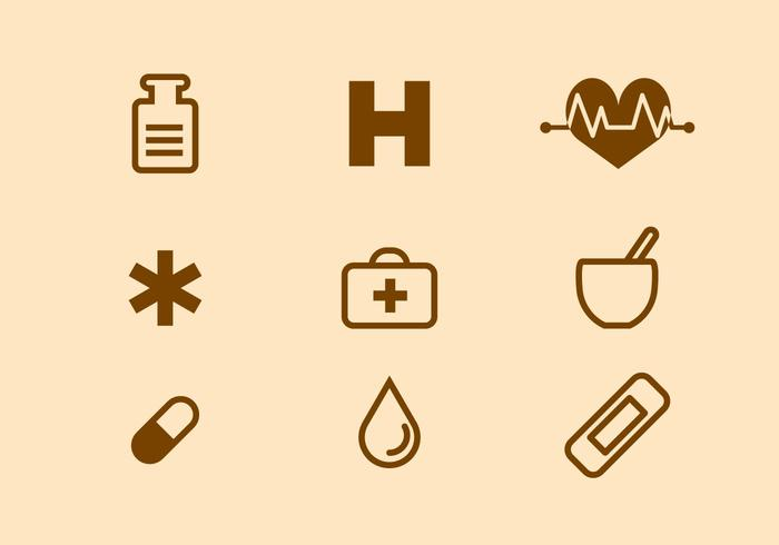 Gratis medicinsk ikon vektor