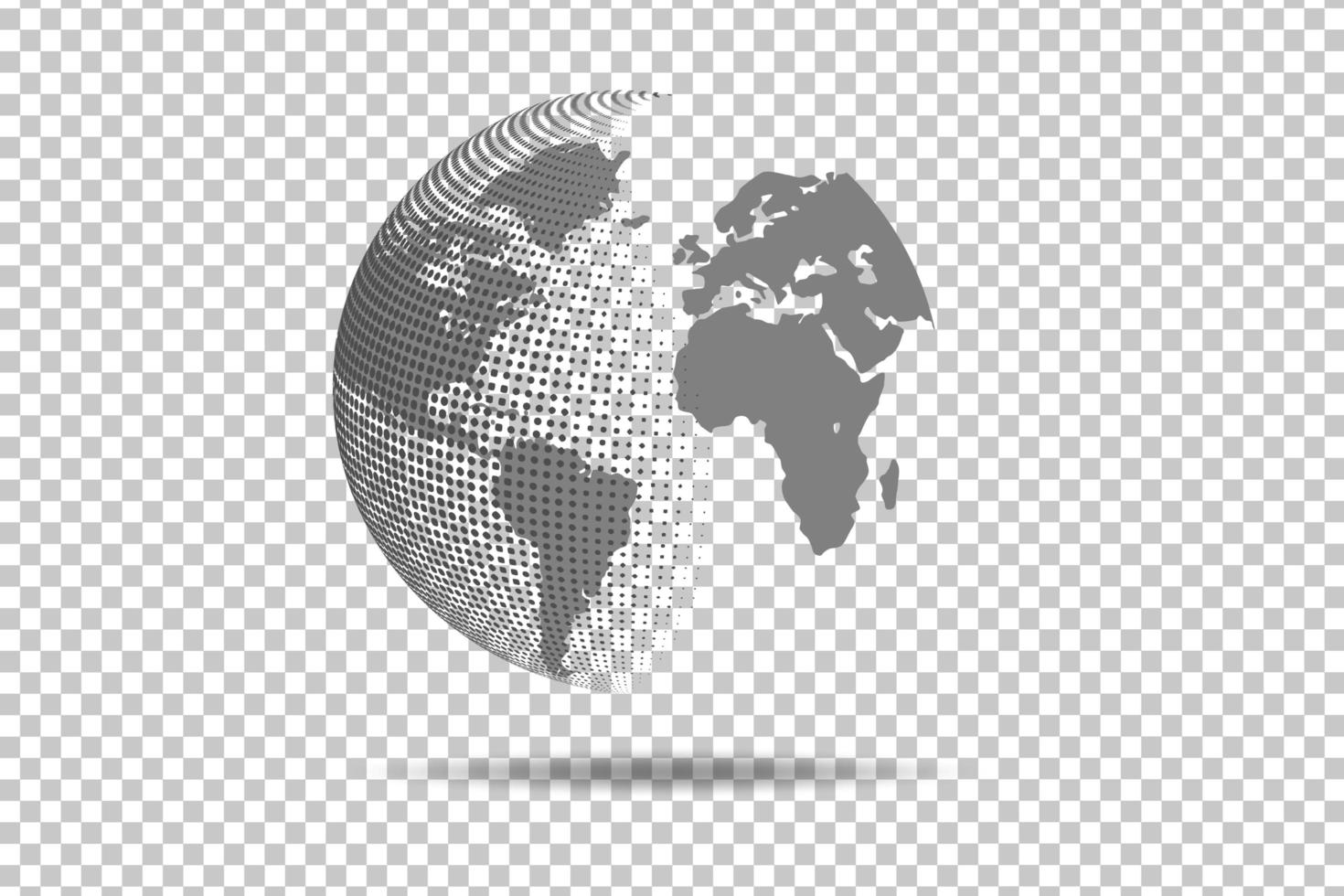 abstrakte Weltkarte globale Netzwerkverbindung vektor
