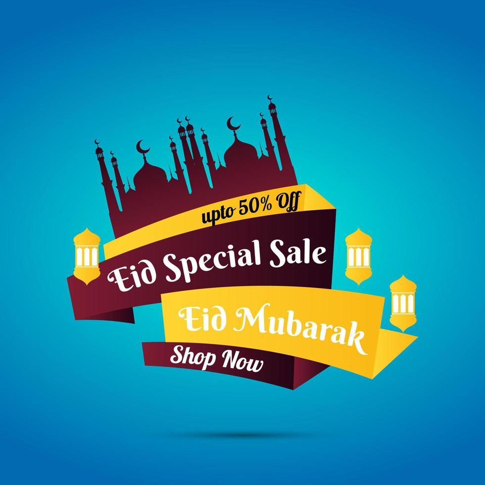 ramadan eid mubarak försäljning tecken vektor