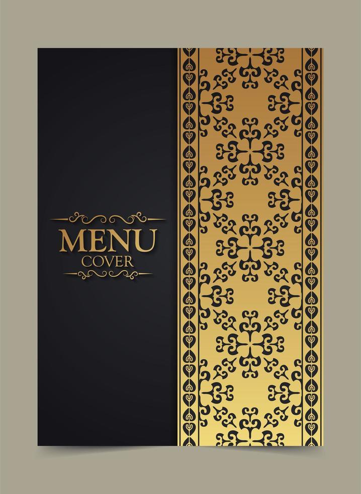 elegant gyllene meny omslagsdesign vektor