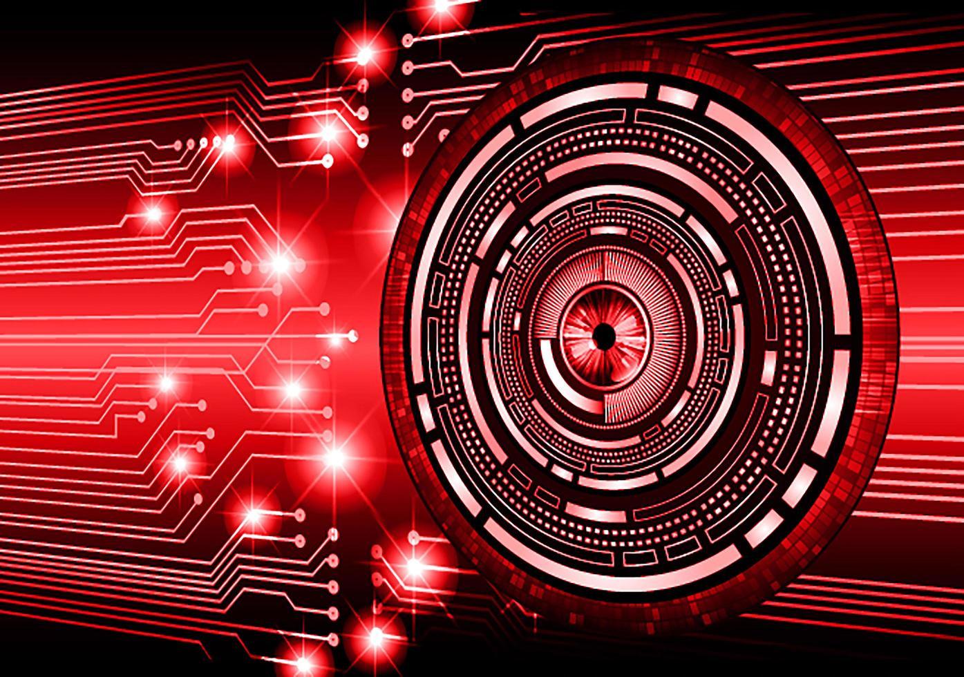 röda ögon cyber krets framtida teknik koncept bakgrund vektor