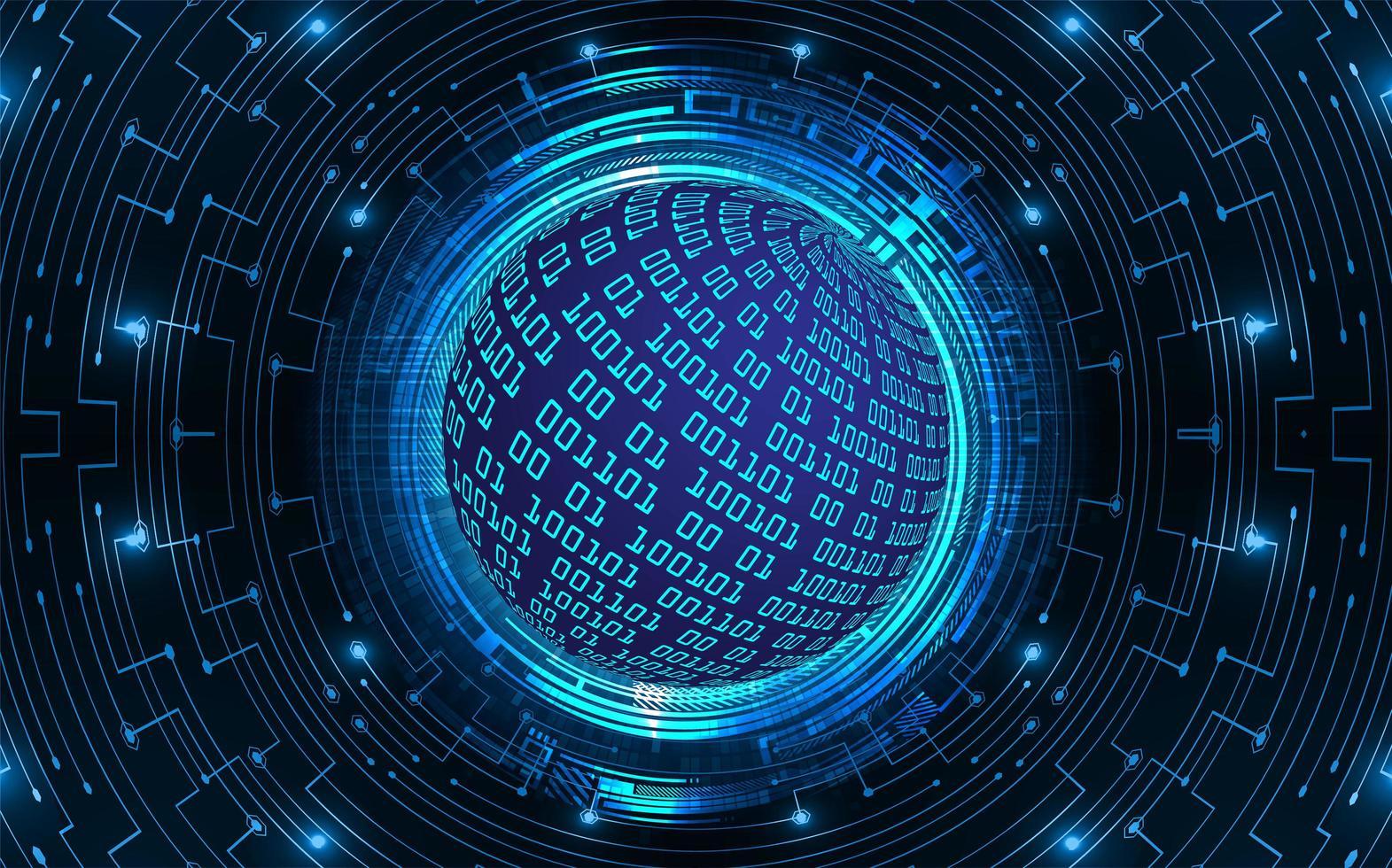 blå värld cyber krets framtida teknik koncept bakgrund vektor
