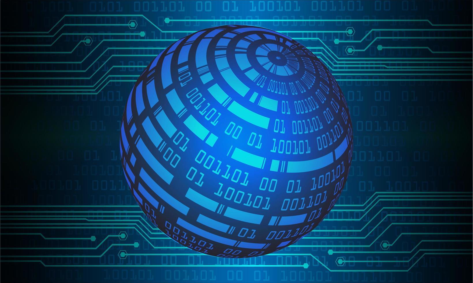 blå världskarta ljus abstrakt teknik bakgrund vektor
