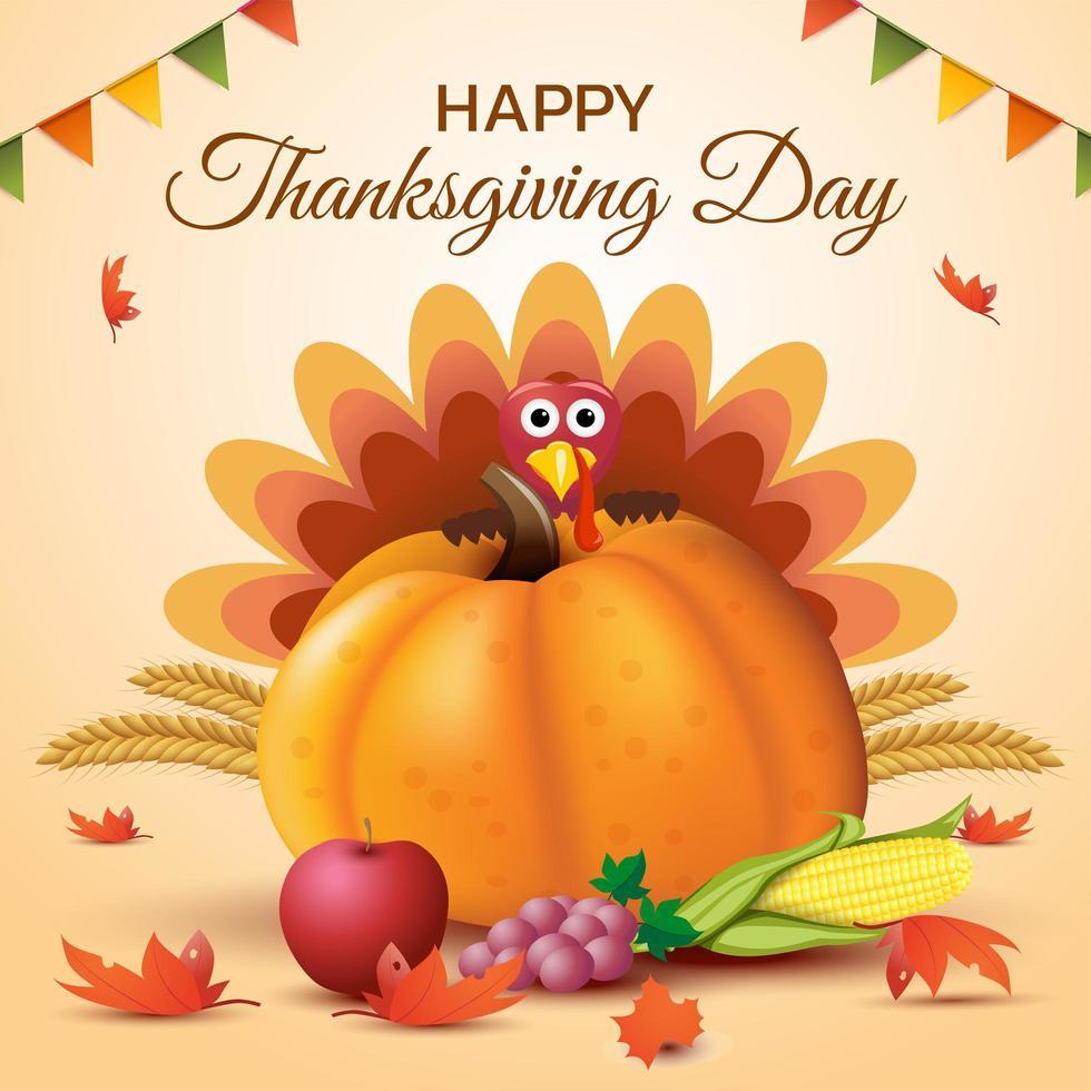 Happy Thanksgiving Day Poster Design 1340516 Vektor Kunst Bei Vecteezy