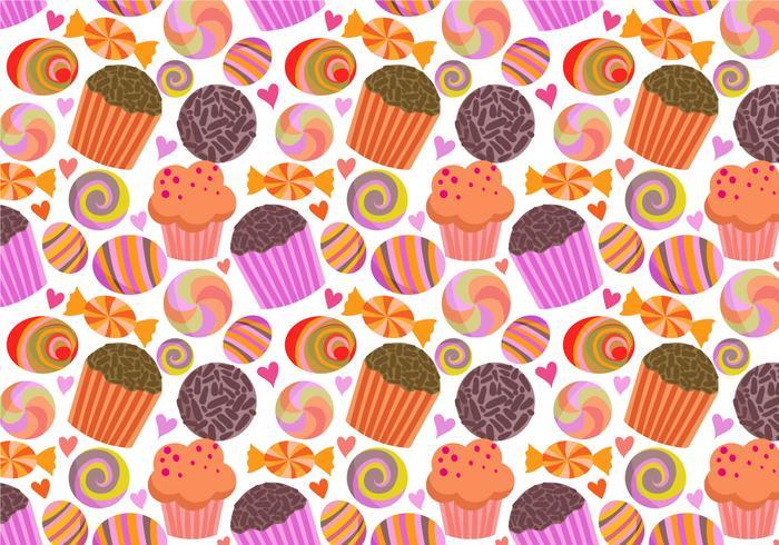 Freie Süßigkeiten Muster Vektoren