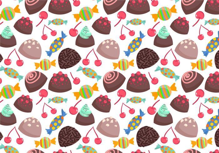 Freie Süßigkeiten Muster 2 Vektoren