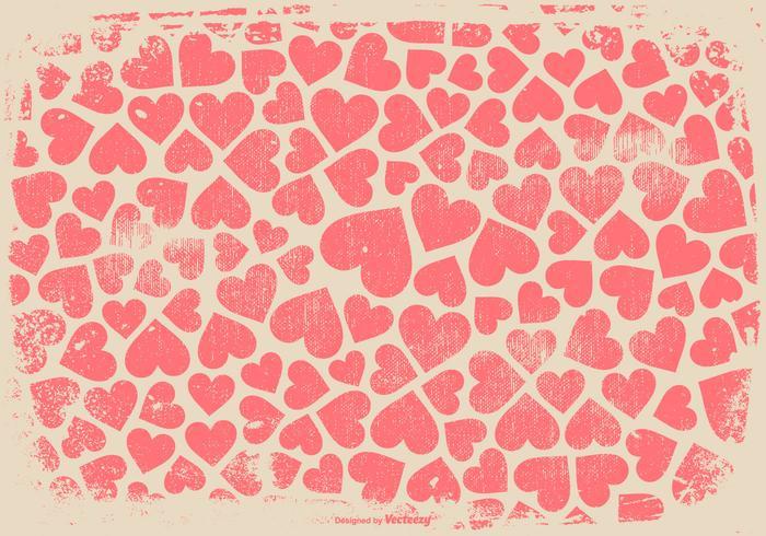 Grunge hjärtor bakgrund vektor